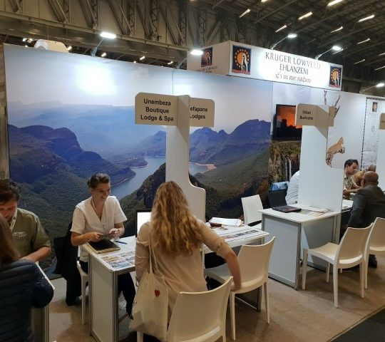 Showcase your product on the Kruger Lowveld stand at WTM Africa and Indaba 2020